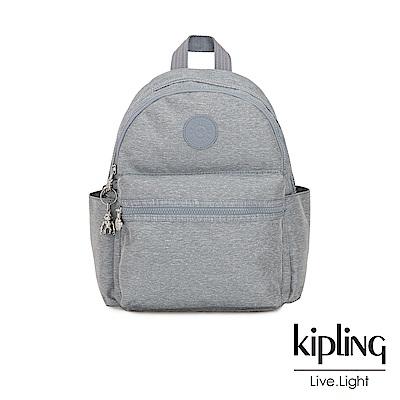 Kipling 極簡風淺灰丹寧後背包-SORDA