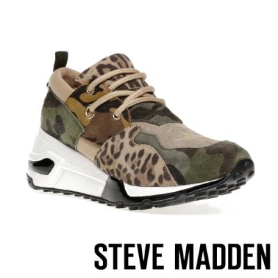 STEVE MADDEN-CLIFF 潮流款拼接時尚老爹鞋-特殊紋棕色