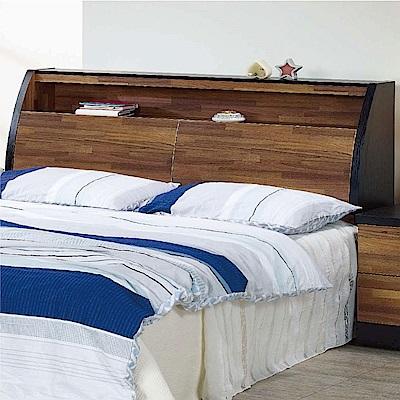 綠活居 路透斯時尚5尺雙色雙人床頭箱(不含床底)-152x30.3x109cm免組