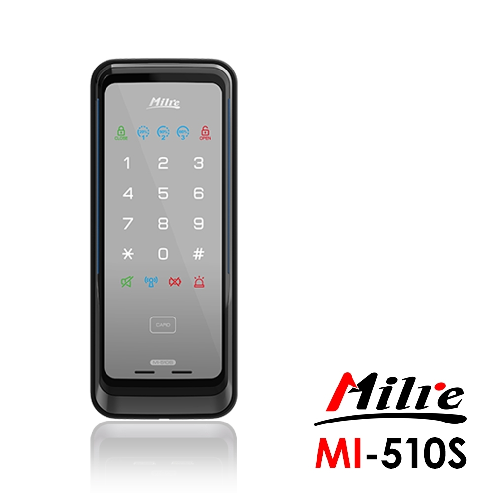 Milre美樂 密碼/卡片智能電子門鎖MI-510S(附基本安裝)