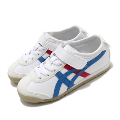 Onitsuka Tiger 休閒鞋 Mexico 66 PS 復古 童鞋 OT 鬼塚虎 白 藍 紅 1184A049103