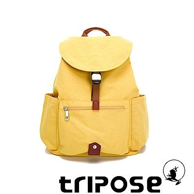 tripose MEMENTO系列微皺尼龍經典輕量後背包(大)活力黃