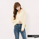 H:CONNECT 韓國品牌 女裝 - 簡約領口造型襯衫-黃