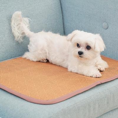 米夢家居-3D立體加厚透氣網布天然寵物紙纖涼蓆/涼墊(45x60cm)