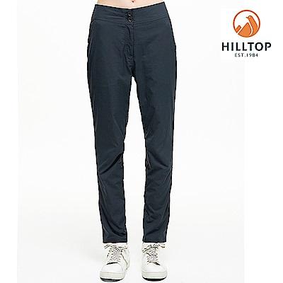 【hilltop山頂鳥】女款吸濕快乾抗UV彈性長褲S07FH6深灰