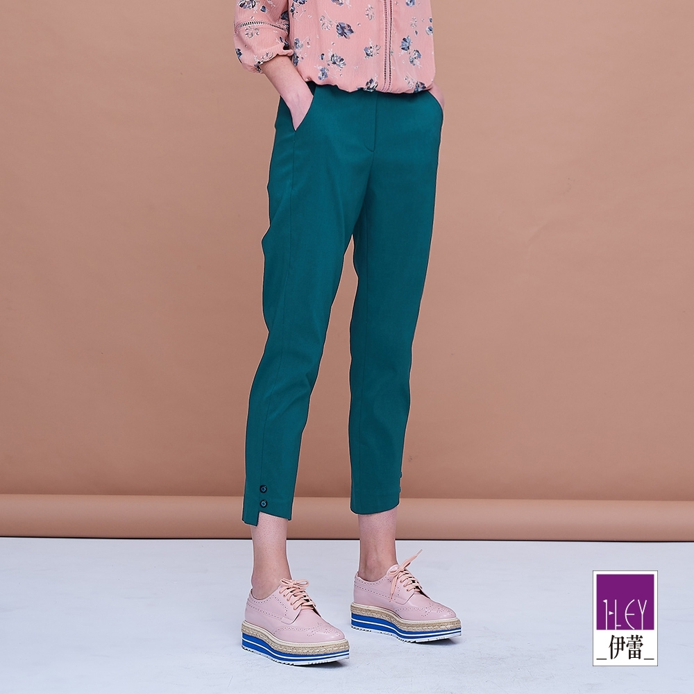ILEY伊蕾 高彈力都會風百搭窄管褲(黑/紫/藍/黃)