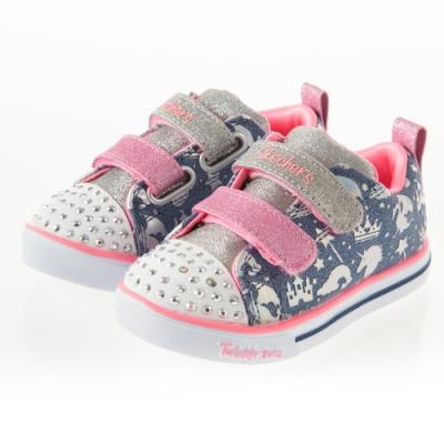 SKECHERS 女嬰童系列 燈鞋 SPARKLE LITE - 20274NLBMT