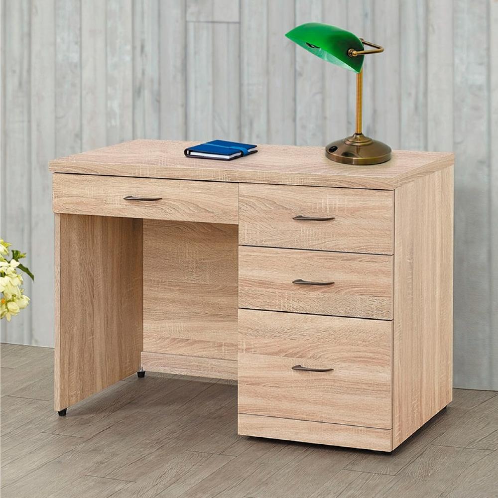 Bernice-偉茲原切橡木3.5尺書桌-106×58×79cm