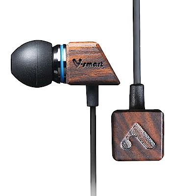 V-smart Chocolate 高音質 檀木耳機(贈耳塞*3+旅行收納盒+理線夾)