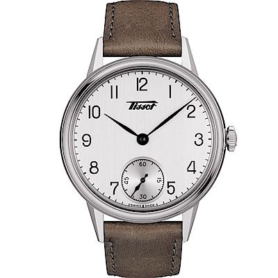 TISSOT天梭Heritage經典小秒針手上鍊機械錶(T 1194051603701 )