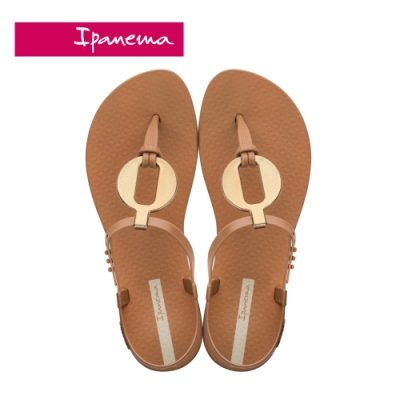 IPANEMA  CLASS  VITTA圓型金屬感造型T字涼鞋-咖啡
