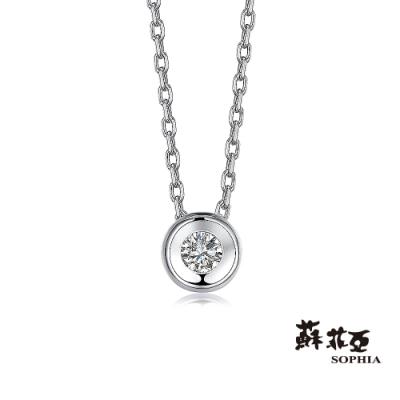 蘇菲亞SOPHIA - 擁愛0.07克拉鑽石項鍊