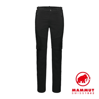 【Mammut 長毛象】Hiking Zip Off Pants Men 經典健行兩截式長褲 黑色 男款 #1022-01260