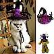 摩達客 寵物萬聖節派對-紫色蜘蛛巫婆帽頭飾 product thumbnail 1