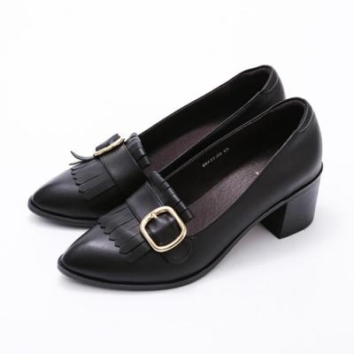 SM-英倫學院風格首選羊皮淑女鞋