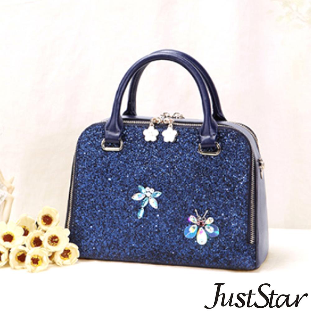 Just Star 昆蟲Bling派對兩用包 深邃藍