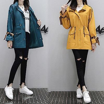 【韓國K.W.】輕柔淘氣時尚外套-2色