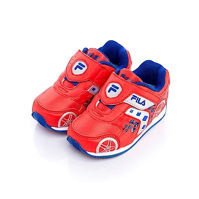 FILA KIDS小童EVA電燈慢跑鞋-紅7-J455S-233