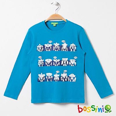 bossini男童-印花長袖T恤02綠松