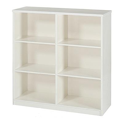 綠活居 阿爾斯環保3尺塑鋼開放式六格書櫃(六色)-90x31x113cm免組