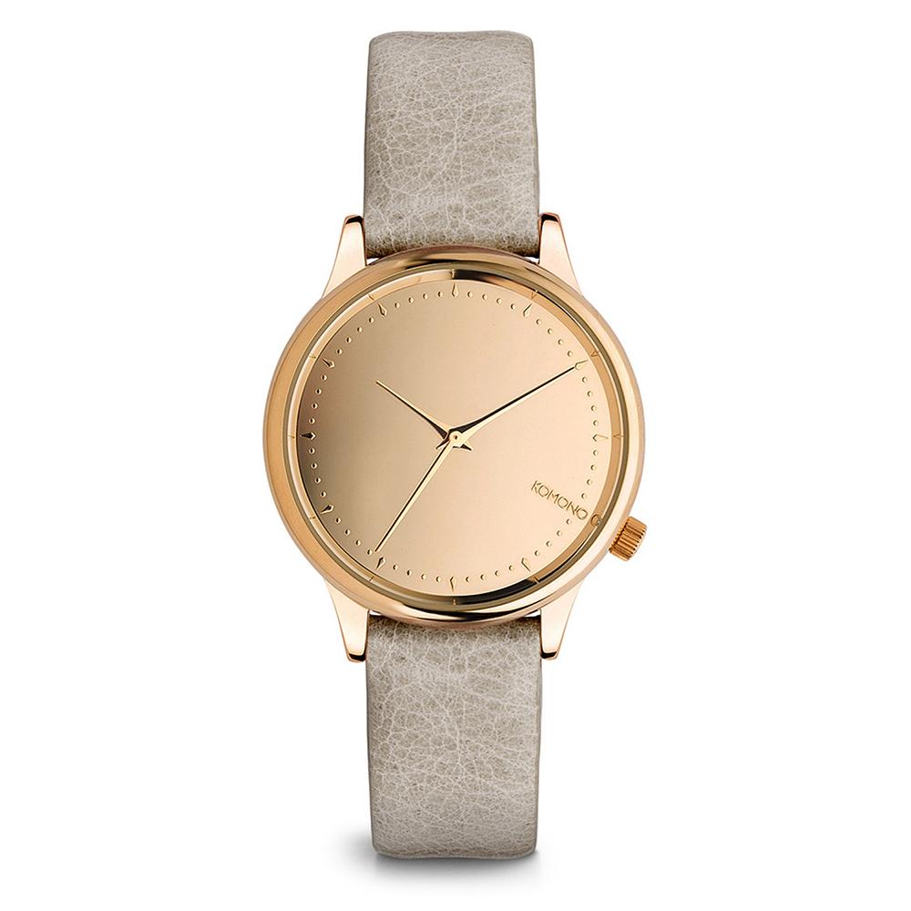 KOMONO Estelle Mirror 腕錶-空靈灰x玫瑰金/36mm