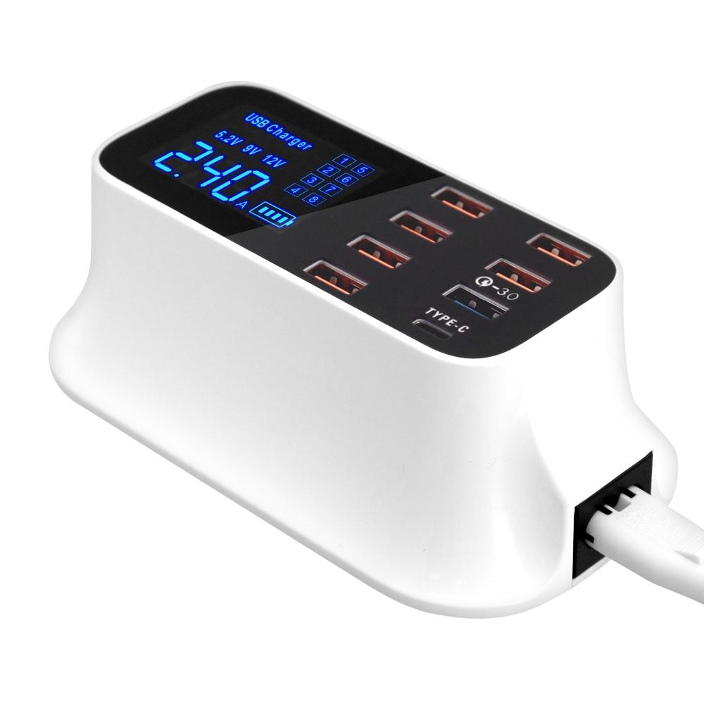 QC-8PT1 八孔USB輸出QC3.0快充智慧充電器