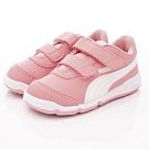 PUMA童鞋 雙絆帶皮質運動鞋款 ON92523-10粉(小童段)