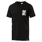 PUMA-男性流行系列Slogan短袖T恤-黑色-亞規