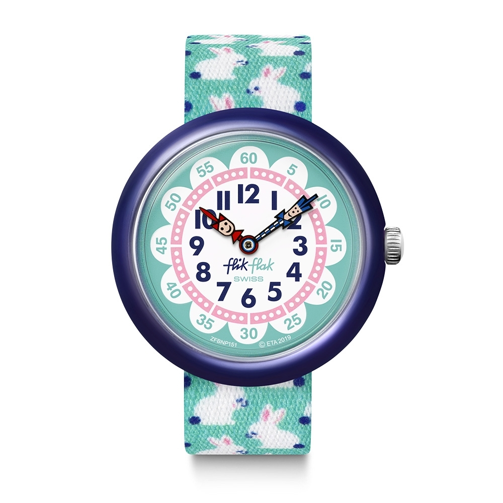 FlikFlak 兒童錶 HOPHOPHOP 跳跳兔-31.85mm