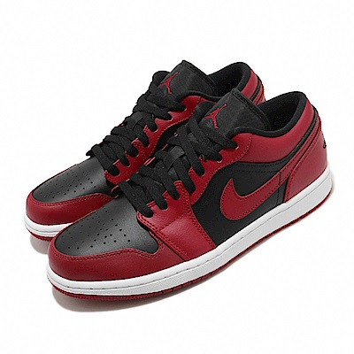 Nike 休閒鞋 Air Jordan 1代 Low 男鞋 反轉 低筒 喬丹 Reverse Bred 黑 紅 553558606