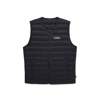 NATIONAL GEOGRAPHIC 男 Calis light goose down vest 羽絨背心 海軍藍-N204MDV210167