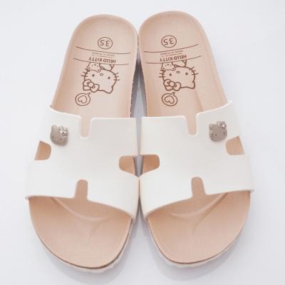 HelloKitty童鞋 簡約軟木涼鞋款 EI19293白(親子段)