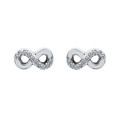 Pandora 潘朵拉 無限愛鑲鋯純銀耳環