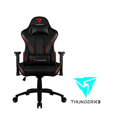 【ThunderX3】RC3 AIR系列 電競賽車椅(黑紅色)