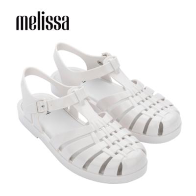 Melissa POSSESSION經典純色漁夫鞋-白