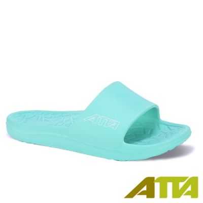ATTA 舒適幾何紋室外拖鞋-湖水綠