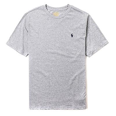 Polo Rlaph Lauren 經典電繡小馬圓領素面短袖T恤(青年款)-灰色