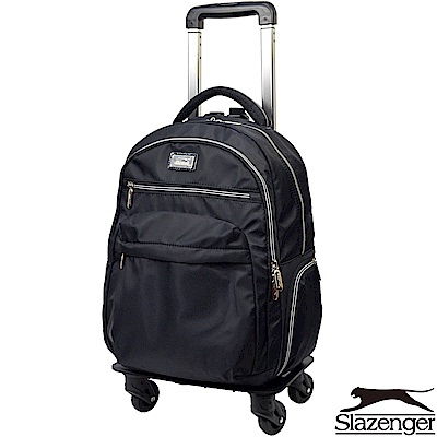 Slazenger 史萊辛格 18吋可拆式拉桿後背包(黑)