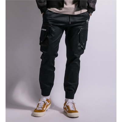 LAKING多口袋修身束口褲