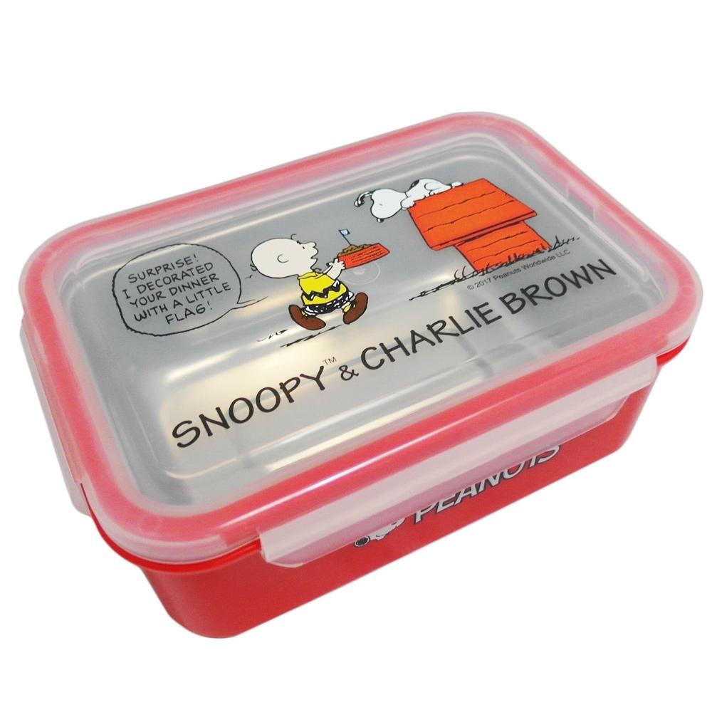 SNOOPY 史努比不鏽鋼便當盒-巴士/屋子-2入組