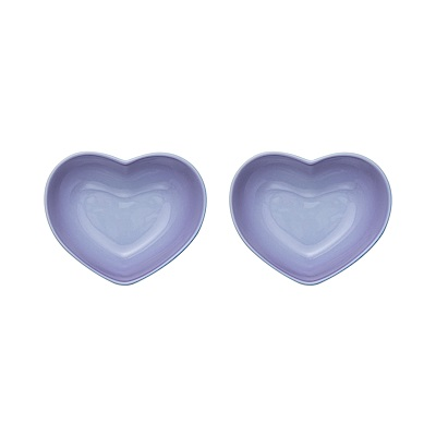 LE CREUSET 瓷器心型盤(小) 2入(多色可選)