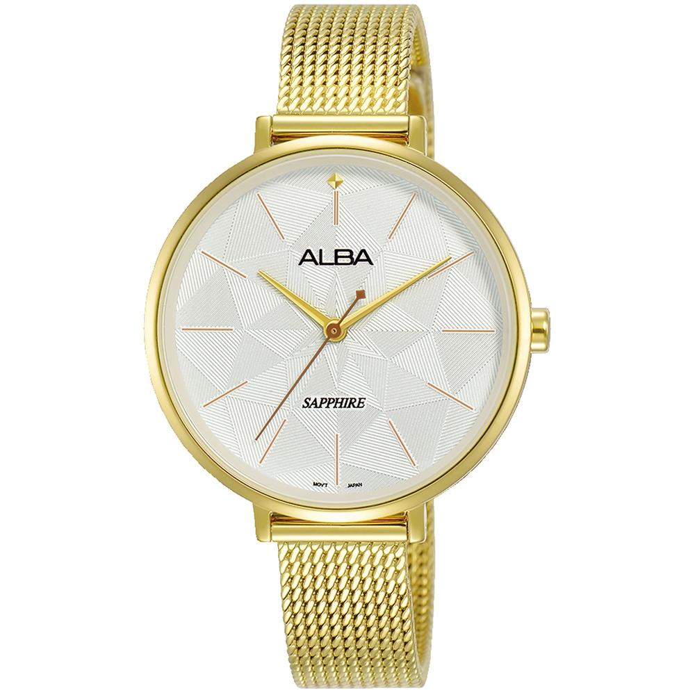 ALBA雅柏 萬花幾何米蘭時尚手錶(AH8686X1)-金/34mm