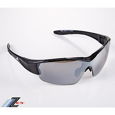 【Z-POLS】新一代頂級消光黑全新設計 一片式電鍍鏡面運動太陽眼鏡
