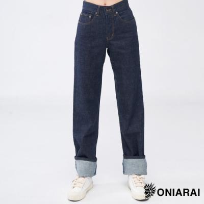 鬼洗 BLUE WAY-原色單寧中腰直筒褲(女款)