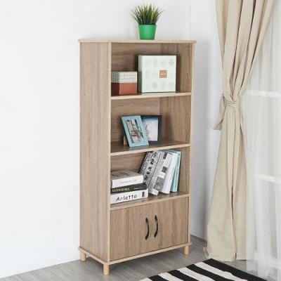 Homelike 摩登二門四層書櫃(二色)-60 x 30 x 127 cm