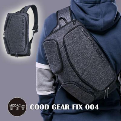 摩達客 韓國COOD GEAR-FIX004優雅時尚防潑水灰色輕便側肩包 斜跨包11L