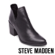 STEVE MADDEN-POSTAL俐落美型側V鏤空尖頭粗跟短靴-黑色 product thumbnail 1