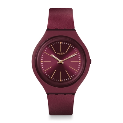 Swatch SKIN 超薄系列手錶 SKINAVOLA 超薄-黑珍珠葡萄-40mm
