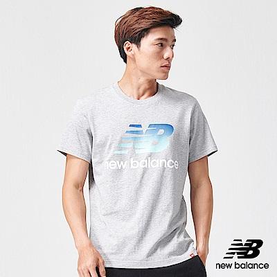 New Balance粉彩NB經典Logo短袖T恤AMT91580AG_男_灰