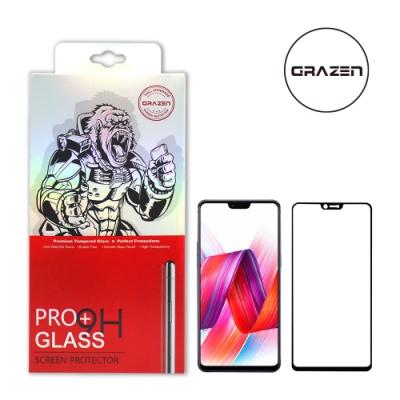 【格森GRAZEN】OPPO R15/R15PRO/A3滿版(黑)鋼化玻璃